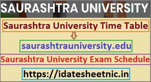 Saurashtra University Time Table 2021