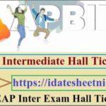 AP Intermediate Exam Hall Ticket 2021