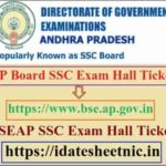 AP Board SSC June Exam Hall Ticket 2021