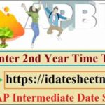 AP Inter 2nd Year Time Table 2021