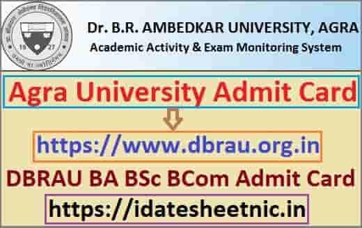 Agra University Admit Card 2021