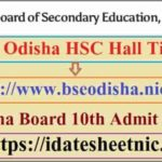 Odisha Board HSC Exam Hall Ticket 2021