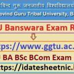 GGTU Banswara BA BSc BCom Result 2021