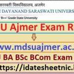 MDSU Ajmer BA BSc BCom Result 2021