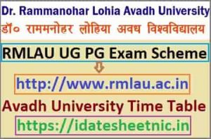 Avadh University BA BSc BCom Time Table 2021