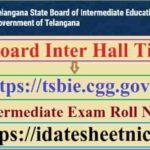TS Board Inter Exam Hall Tickets 2022