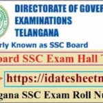 TS Board SSC Exam Hall Ticket 2021