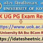 UOK BA BSc BCom Exam Result 2021