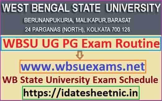 WBSU Exam Routine 2020