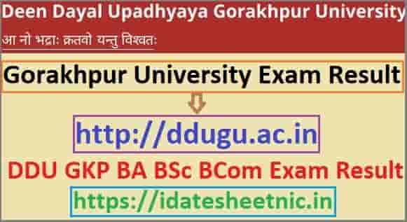 Gorakhpur University Result 2020