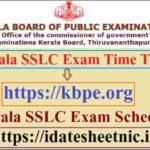 Kerala SSLC Exam Time Table 2021