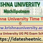 Krishna University UG PG Date Sheet 2021