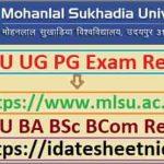 MLSU BA BSc BCom Exam Result 2021