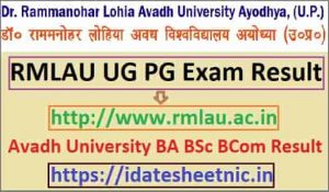 Avadh University BA BSc BCom Result 2021