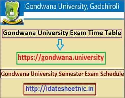 Gondwana University Time Table 2020