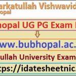 BU Bhopal BA BSc BCom Result 2020