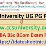 CCS University UG PG Exam Result 2020