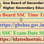 Goa Board SSC Time Table 2022