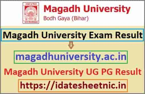 Magadh University Result 2020
