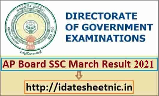 AP Board SSC Result 2021 Name Wise