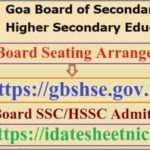 Goa Board SSC HSSC Seating Arrangement 2021