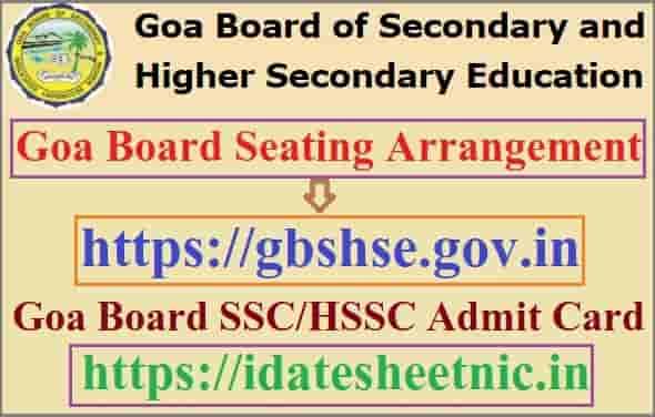 Goa Board Seating Arrangement 2021
