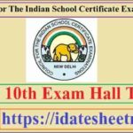 ICSE 10th Exam Hall Ticket 2021