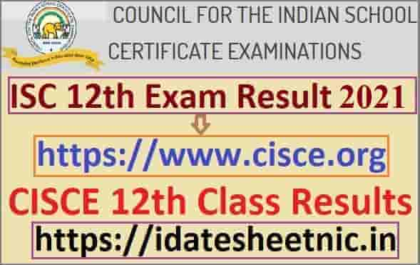 ISC 12th Result 2021 Name Wise