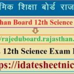 Rajasthan Board 12th Science Result 2021