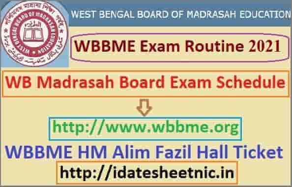 WBBME Exam Routine 2021