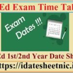 B.Ed Part 1/2 Exam Date Sheet 2021