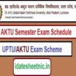AKTU B.Tech M.Tech Exam Time Table 2022