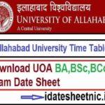 Allahabad University Exam Scheme 2021