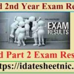 B.Ed 2nd Year Exam Result 2020