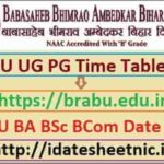 BRABU UG PG Exam Time Table 2022