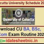 Calcutta University UG PG Exam Routine 2021