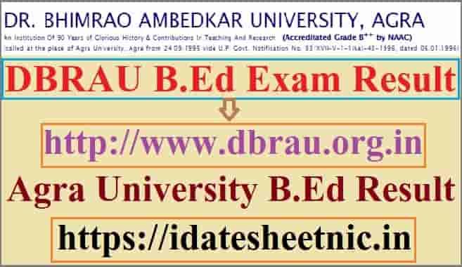 DBRAU B.Ed Result 2020