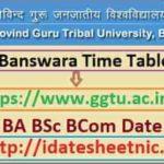GGTU BA BSc BCom Date Sheet 2021