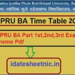 MJPRU BA Exam Time Table 2021