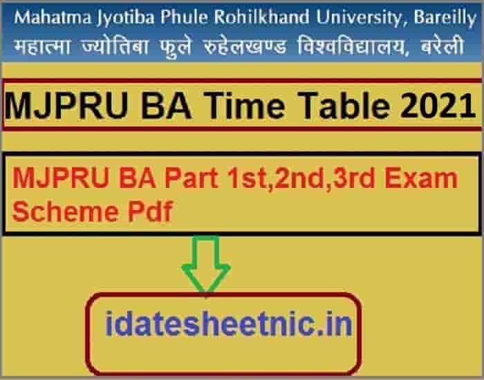 MJPRU BA Time Table 2021