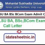 MLSU UG PG Exam Admit Card 2021