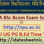 NPU BA BSc BCom Exam Routine 2022