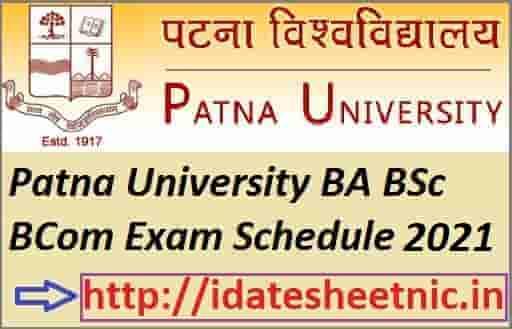 Patna University Exam Schedule 2021