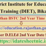 Rajasthan BSTC 2nd Year Time Table 2020