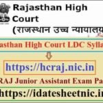 Rajasthan High Court LDC Syllabus 2020