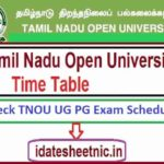 TNOU UG PG Exam Schedule 2021