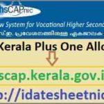 VHSECAP Plus One Allotment 2021