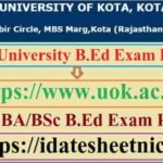 Kota University B.Ed Exam Result 2021