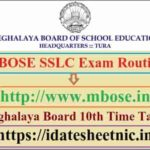 MBOSE SSLC Exam Routine 2022
