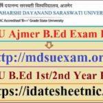MDSU Ajmer B.Ed Result 2021